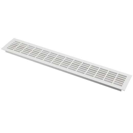 Silver Plinth Appliance Ventilation Grill