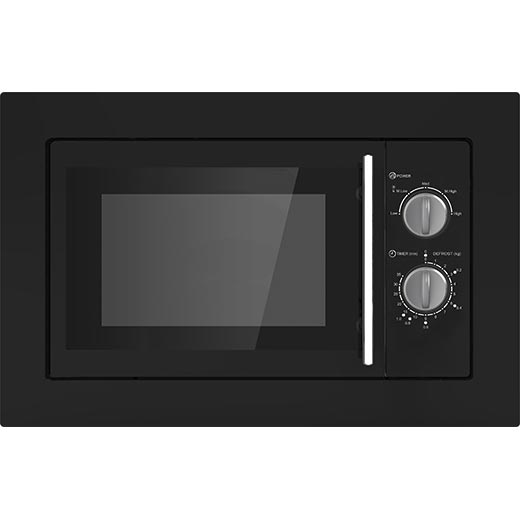 Prima Built In Black Microwave