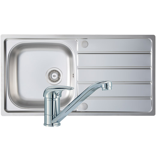 Prima 1 Bowl Sink & Tap Pack