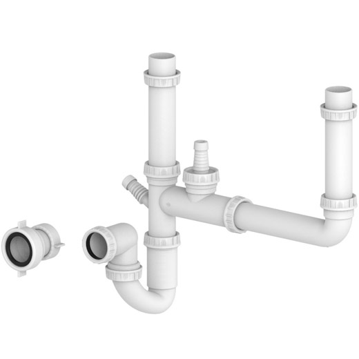 Two Bowl Plumbing Kit
