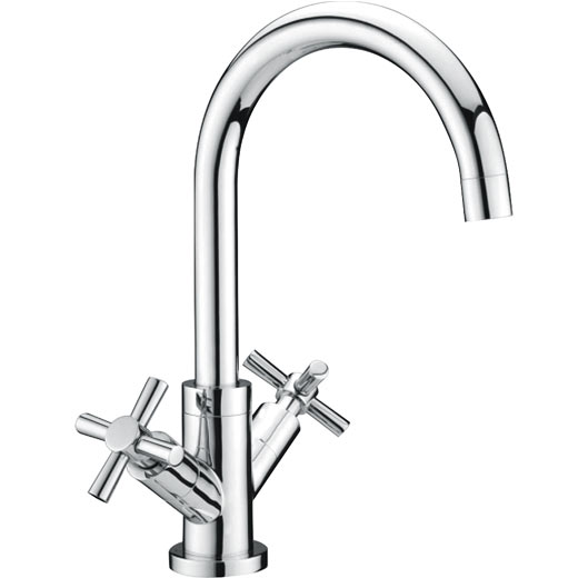 Quarter Turn Swan Neck Mixer Tap